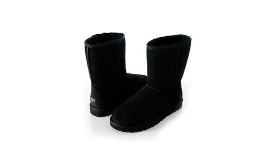 Угги на все времена и к любой одежде: короткие черные угги