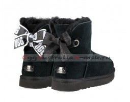 UGG BAILEY BOW MINI CUSTOMIZABLE BLACK