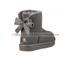UGG BAILEY BOW MINI CUSTOMIZABLE CHARCOAL