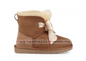 UGG GITA BOW MINI BOOT CHESTNUT