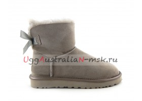 UGG MINI BAILEY BOW II METALLIC GREY VIOLET