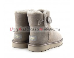 UGG BAILEY BUTTON II METALLIC GREY VIOLET