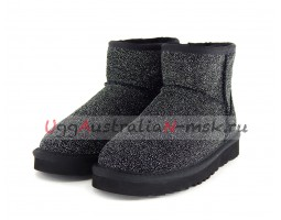 UGG CLASSIC MINI SEREIN BLACK