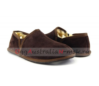 UGG SLIPPERS SCUFF ROMEO II CHOCOLATE