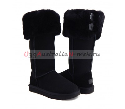 UGG BOOTS OVER THE KNEE BAILEY BUTTON II BLACK