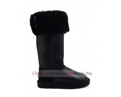 UGG BOOTS OVER THE KNEE BAILEY BUTTON II BOMBER BLACK