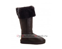 UGG BOOTS OVER THE KNEE BAILEY BUTTON II BOMBER CHOCOLATE