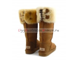 UGG BOOTS OVER THE KNEE BAILEY BUTTON II CHESTNUT