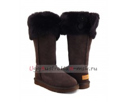 UGG BOOTS OVER THE KNEE BAILEY BUTTON II CHOCOLATE