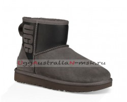 UGG CLASSIC MINI RUBBER BOOT GREY/BLACK