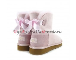 UGG MINI BAILEY BOW II METALLIC SEASHE PINK