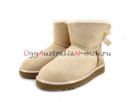UGG MINI BAILEY BOW II METALLIC SLATE