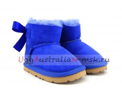UGG FOR BABIES BAILEY BOW ELECTRIC BLUE