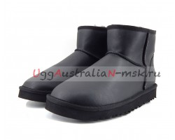 UGG MEN CLASSIC MINI ZIP ROCK METALLIC BLACK