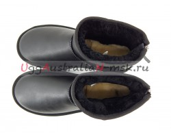 UGG MEN CLASSIC MINI ZIP ROCK METALLIC BLACK