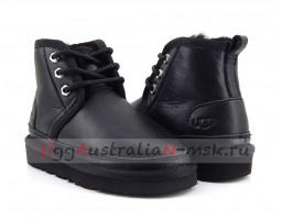 UGG KIDS BOOTS NEUMEL METALLIC BLACK