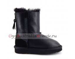UGG KIDS ONE ZIP METALLIC BLACK