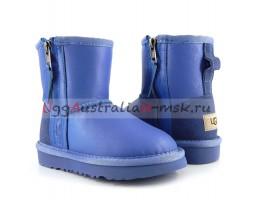 UGG KIDS ONE ZIP METALLIC BLUE WAVE