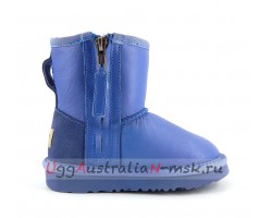 UGG KIDS ONE ZIP METALLIC BLUE WAVE
