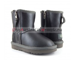 UGG KIDS ONE ZIP METALLIC GREY