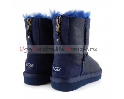 UGG KIDS ONE ZIP METALLIC NAVY