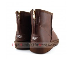 UGG MEN CLASSIC MINI ZIP ROCK METALLIC CHOCOLATE