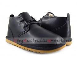 UGG MENS BOOTS MAKSIM METALLIC BLACK