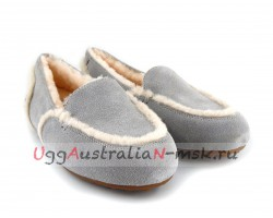 UGG WOMEN LOAFER SLIPPERS HAILEY LIGHT GREY