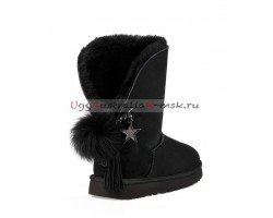 UGG CHARM HELL HAIR BALL II POM BLACK