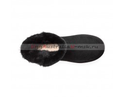 UGG CLASSIC MINI CUFF BLACK