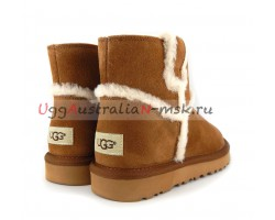 UGG CLASSIC MINI TOP WOOL CHESTNUT