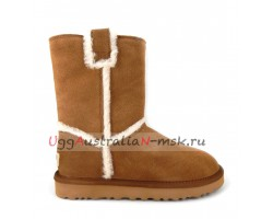 UGG CLASSIC SHORT TOP WOOL CHESTNUT