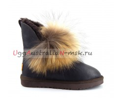 UGG IRINA FUR GUN II METALLIC CHOCOLATE