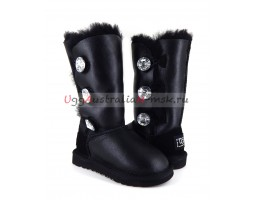 UGG KIDS BAILEY BLING TALL METALLIC BLACK