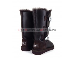 UGG KIDS BAILEY BLING TALL METALLIC CHOCOLATE