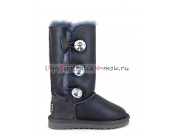 UGG KIDS BAILEY BLING TALL METALLIC GREY