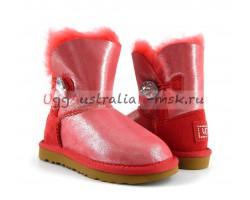 UGG KIDS BAILEY BUTTON GLITTER BLING ROSE