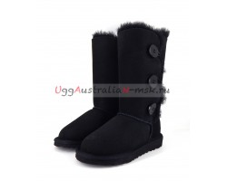 UGG KIDS BAILEY BUTTON II TRIPLET BLACK