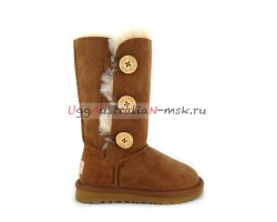 UGG KIDS BAILEY BUTTON II TRIPLET CHESTNUT