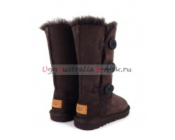 UGG KIDS BAILEY BUTTON II TRIPLET CHOCOLATE