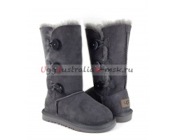 UGG KIDS BAILEY BUTTON II TRIPLET GREY