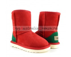 UGG KIDS CLASSIC RED AND GREEN