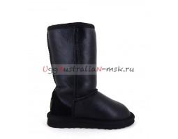 UGG KIDS METALLIC II TALL BLACK