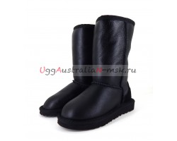 UGG KIDS METALLIC II TALL BLACK