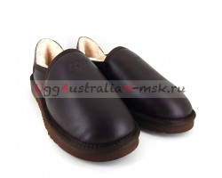 UGG MEN SLIP-ON METALLIC KENTON CHOCOLATE