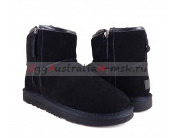 UGG MEN CLASSIC MINI ZIP WATERPROOF BLACK