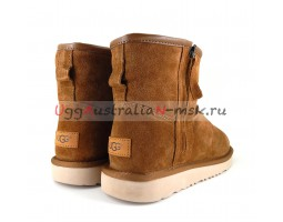 UGG MEN CLASSIC MINI ZIP WATERPROOF CHESTNUT