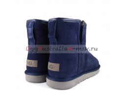UGG MEN CLASSIC MINI ZIP WATERPROOF NAVY
