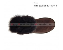 UGG BAILEY BUTTON II MINI CHOCOLATE