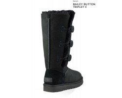 UGG BAILEY BUTTON TRIPLET II BLACK